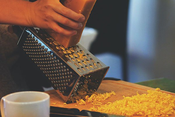 beeswax grating for a homemade car wax